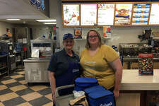 Edwardsville Culver's staff members helped get food ready to transport to Jerseyville for the troops and first responders Thursday.
