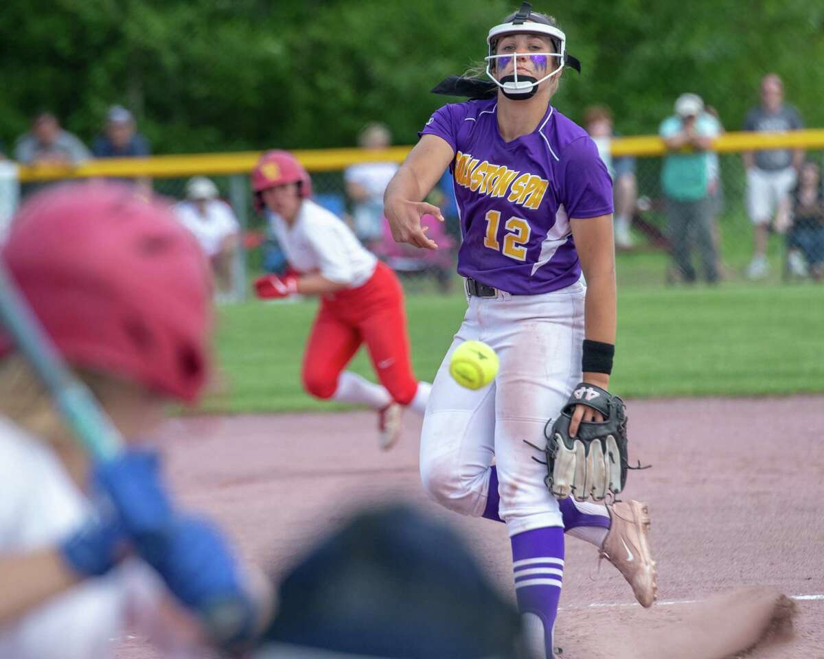Ballston Spa pitcher Lauren Kersch and her teammates were hoping to return to the Class A state final this spring before the coronavirus pandemic ended the season. (Jim Franco / Times Union archive)