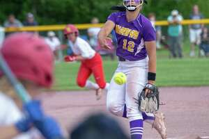 Ballston Spa pitcher Lauren Kersch during the Class A state finals against Williamsville East at Moreau Recreational Park on Saturday, June 15 2019 (Jim Franco/Special to the Times Union.)