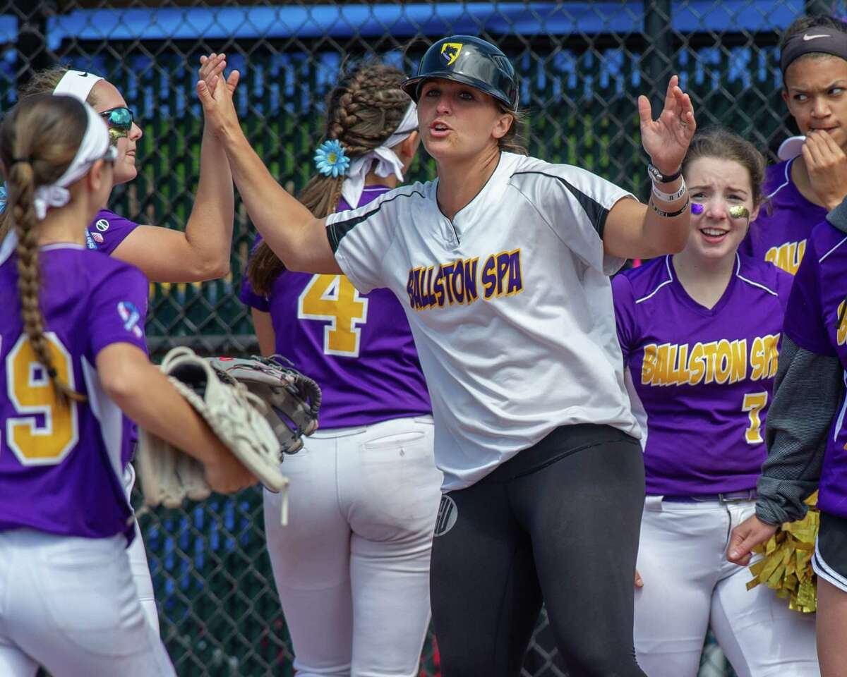 Ballston Spa coach Amanda Fifield during the Class A state semifinals against Sayville at Moreau Recreational Park on Saturday, June 15, 2019 (Jim Franco/Special to the Times Union.)