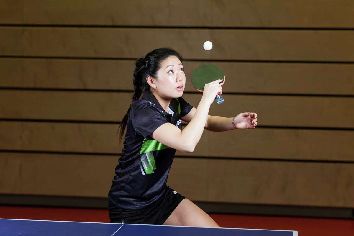 Lily Zhang, who competed in the 2012 and 2016 Olympics, will compete in table tennis, a demonstration sport for the inaugural Aurora Games in August at Albany. (Steven Wu / Joola)