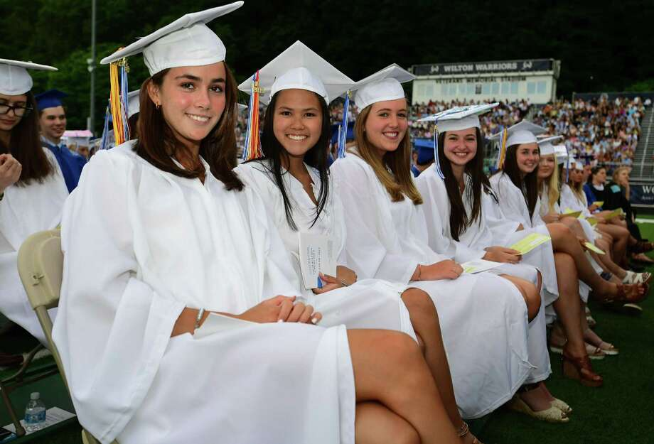 The Wilton High School Class of 2019 Commencement Exercises Saturday, June 15, 2019, at the school in Wilton, Conn. Photo: Erik Trautmann / Hearst Connecticut Media / Norwalk Hour