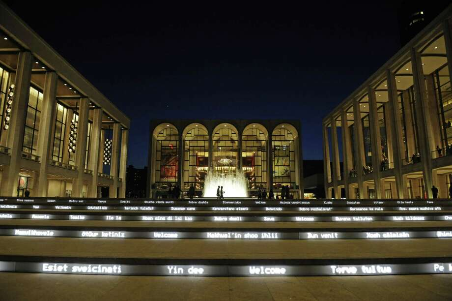 Lincoln Center for the Performing Arts' Grand Stair. Photo: Henny Ray Abrams / AP / FR151332 AP
