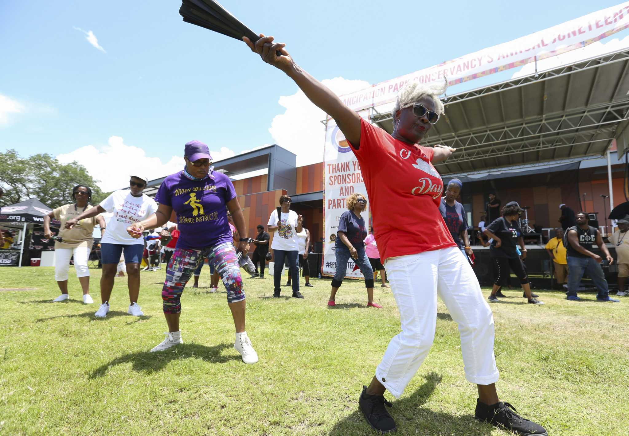 Juneteenth celebration drawn thousands to historic Houston park