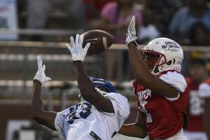 East and West faced off during the SETCA All-Star football game at the BISD Memorial Stadium on Saturday. Photo taken on Saturday, 06/15/19. Ryan Welch/The Enterprise