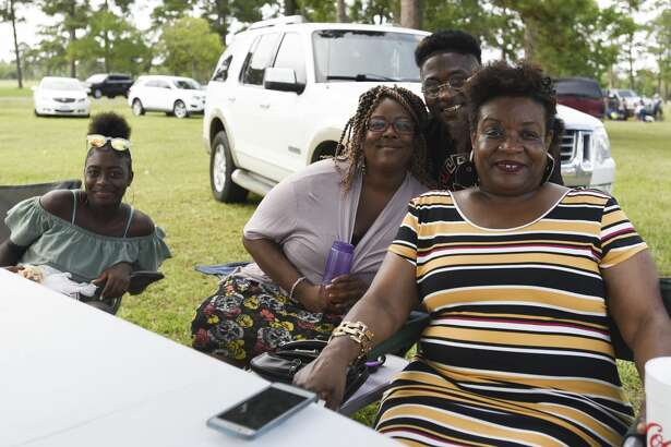People enjoy Juneteeth Celebration in Tyrrell Park Saturday afternoon. Photo taken on Saturday, 06/15/19. Ryan Welch/The Enterprise