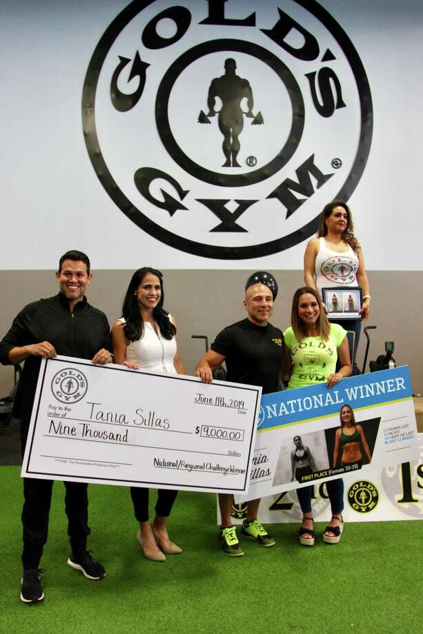The Laredo native Tania Sillas won the Gold's Gym 12-Week Challenge in South Texas and at the national level for the female division of those aged 30-39. Photo: Courtesy Of Gold's Gym