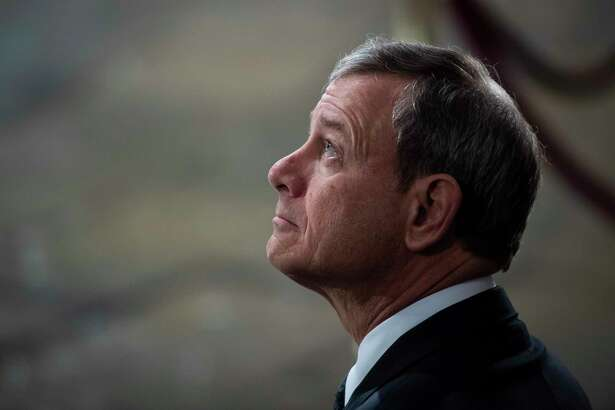Chief Justice John Roberts Jr. sits at the center of the Supreme Court's ideological spectrum.