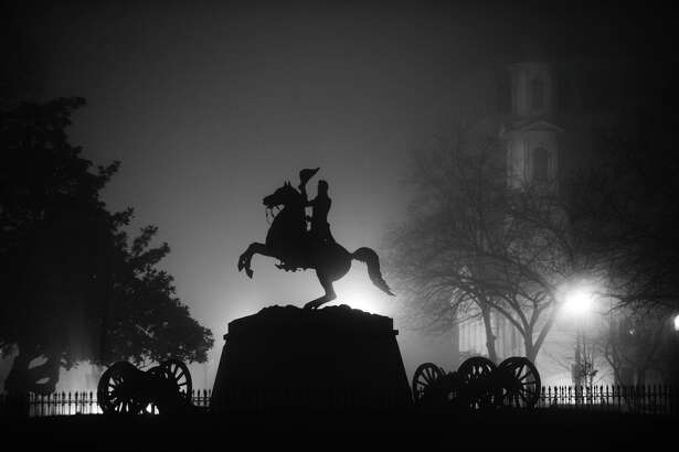 The statue of Andrew Jackson in Lafayette Square near the White House.
