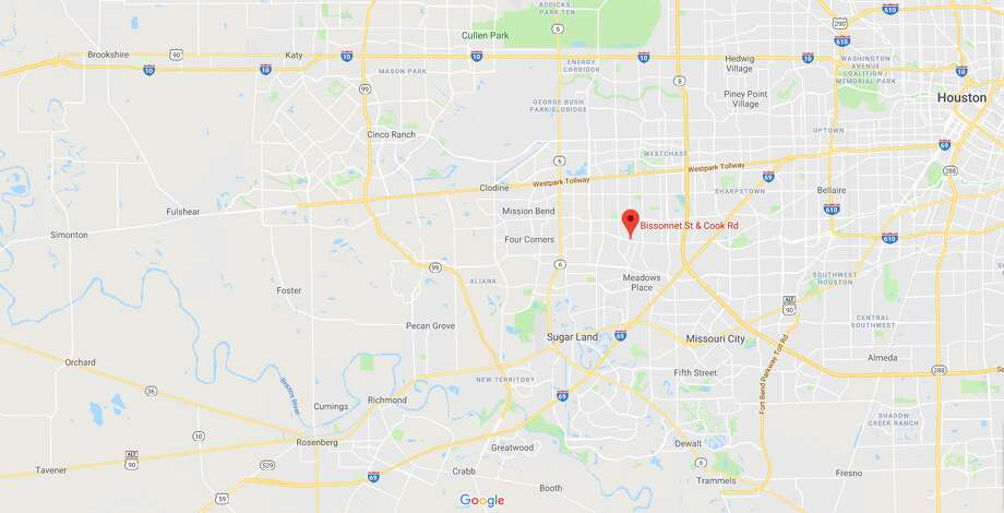FILE - A screenshot of a Google Maps image of Bissonnet Street and Cook Road in Houston, Texas. Sunday, a young man was shot and killed following a fight at a nearby restaurant. Photo: File/Google