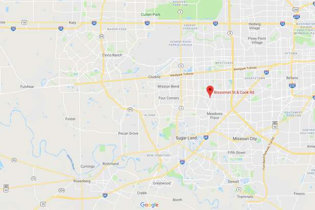FILE - A screenshot of a Google Maps image of Bissonnet Street and Cook Road in Houston, Texas. Sunday, a young man was shot and killed following a fight at a nearby restaurant.