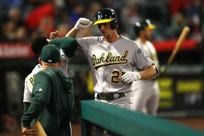 Stephen Piscotty likely to be available off A's bench