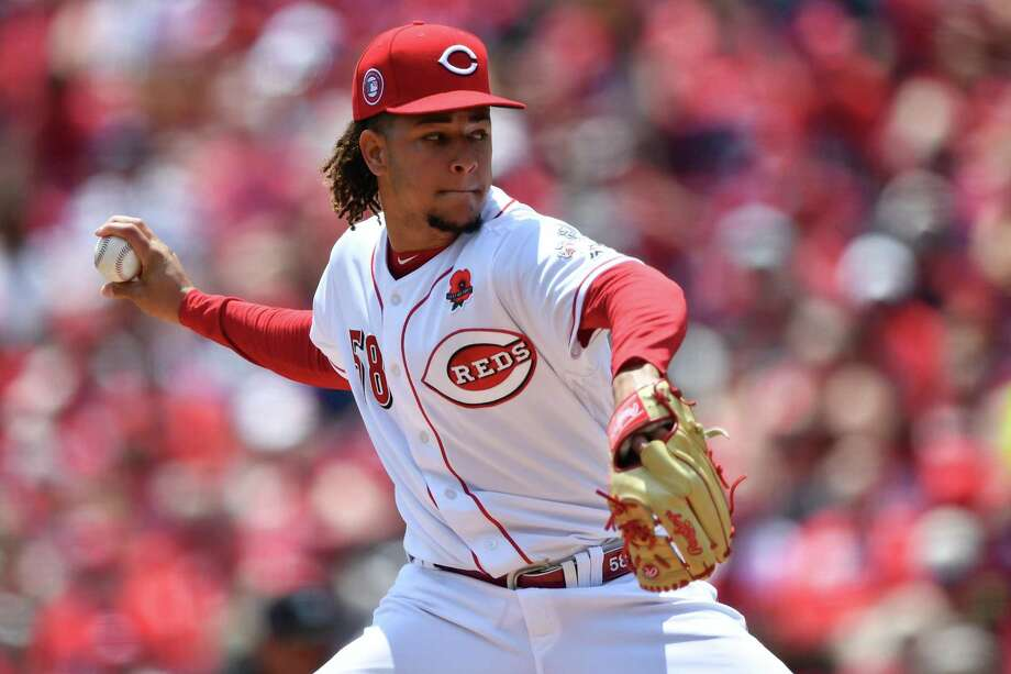 Luis Castillo, who will bring a 6-1 record into Monday's series-opening start for the Reds, ranks second in the majors with a 2.20 ERA. Photo: Jamie Sabau, Stringer / Getty Images / 2019 Getty Images