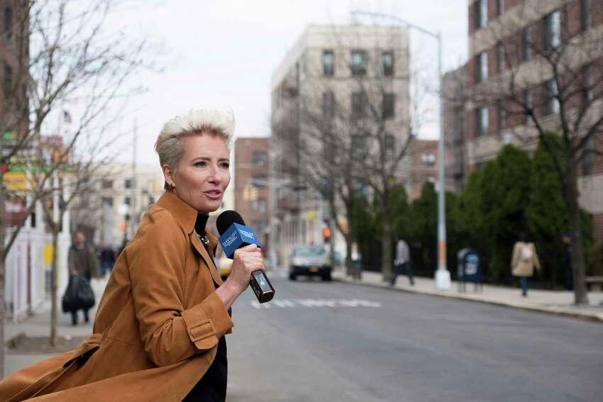 This image released by Amazon Studios shows Emma Thompson in a scene from