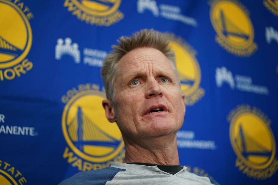 Warriors Head Coach Steve Kerr speaks at the End-of-Season press conference on Friday, June 14, 2019, in Oakland, CA. Photo: Paul Kuroda / Special To The Chronicle / online_yes