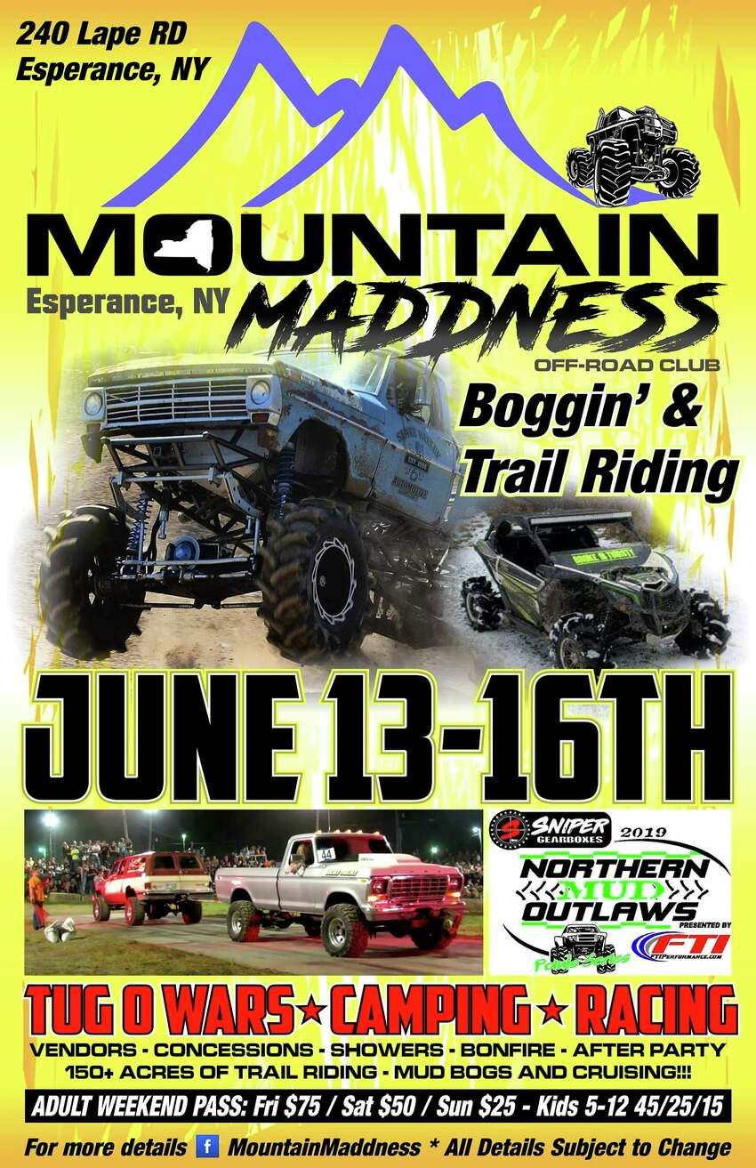 The poster for Mountain Maddness event in Esperence, Schoharie County.