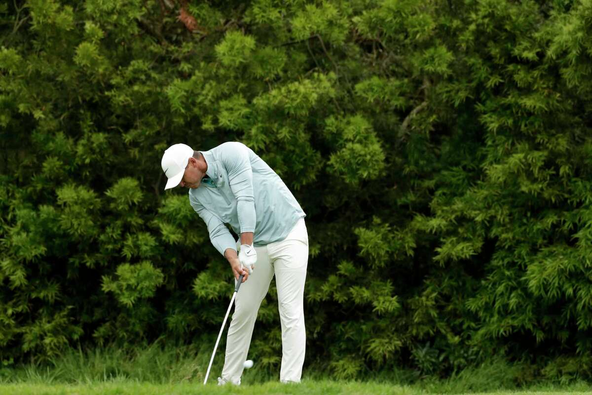 Brooks Koepka watches his tee shot on the 12th hole during the final round of the U.S. Open Championship golf tournament Sunday, June 16, 2019, in Pebble Beach, Calif.