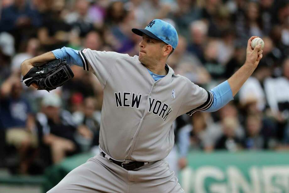 New York Yankees starting pitcher James Paxton throws against the Chicago White Sox during the first inning of a baseball game in Chicago, Sunday, June 16, 2019. (AP Photo/Nam Y. Huh) Photo: Nam Y. Huh / Copyright 2019 The Associated Press. All rights reserved.