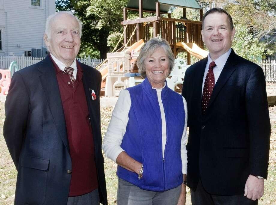 From left to right: Robert Tulipnani, Bette Speilman and Rep. John Frey. — Scott Mullin photo