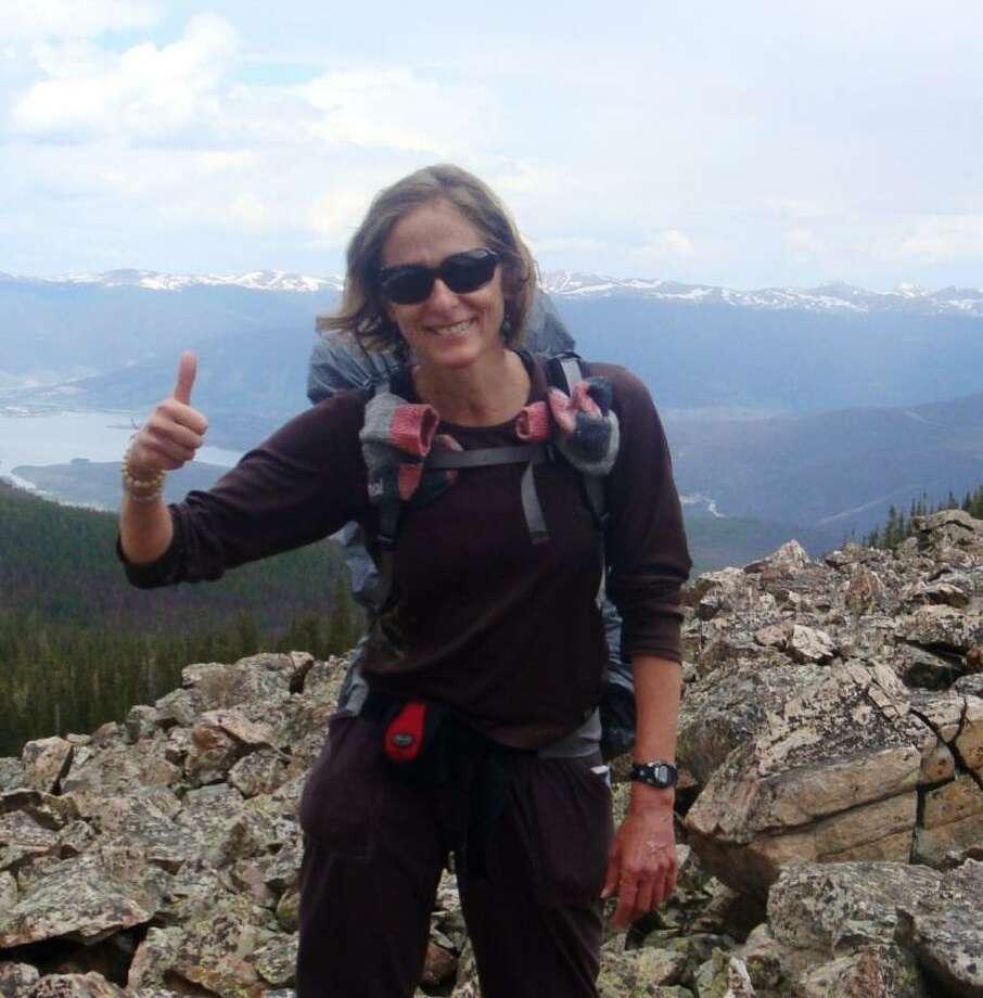 Anne O'Regan on the Pacific Crest Trail.