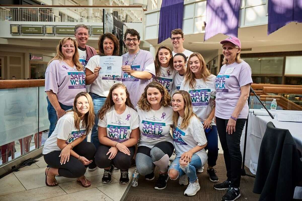 The 1st place fundraising team from Sunday's SafeWalk at the Danbury Fair Mall was