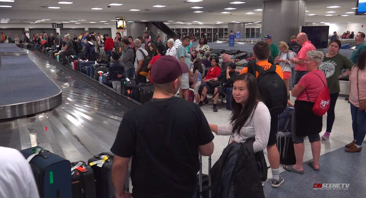 Hundreds of people were reportedly stranded overnight Sunday to Monday at George Bush Intercontinental Airport in Houston after multiple flight cancellations.