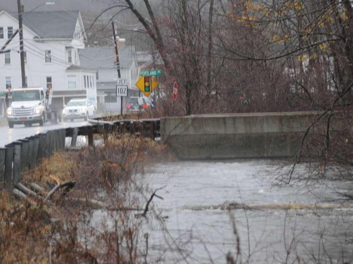 Flooding concerns around town include high water at the bridge out of Branchville Train Station to Route 7.