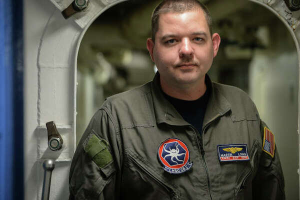 Petty Officer 1st Class Martin Long, a native of Wood River, credits growing up in the community for the skills he's developed as the lead air crewman onboard the Mount Whitney. Long is attached to Helicopter Sea Squadron 28.