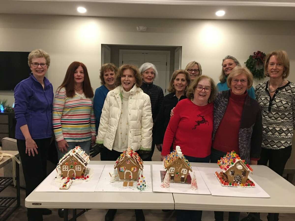 Residents of the new 77 Sunset Lane community recently held their first annual gingerbread house decorating party in their clubhouse. The houses were donated to Ridgefield Social Services for families in need.