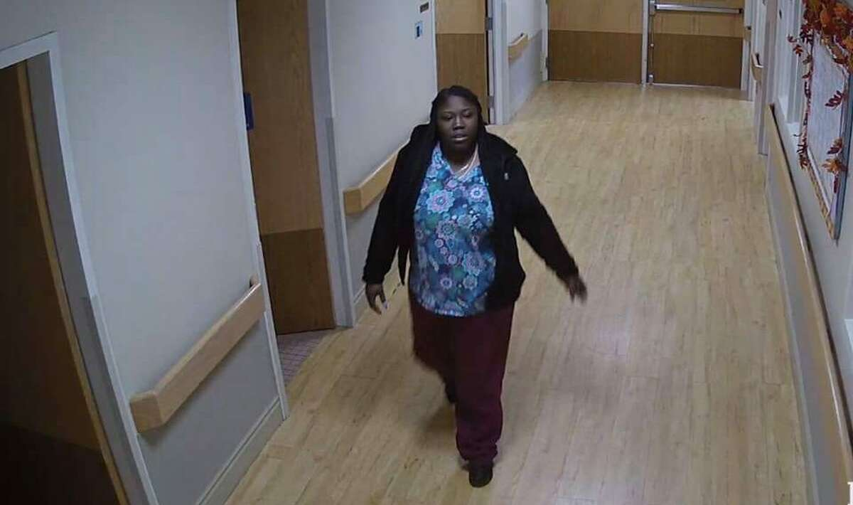 The Ridgefield Police Department released this surveillance photo of a woman they suspect of having stolen two wallets from a healthcare facility in town. Anyone with information on the crime should call 203-431-2794.