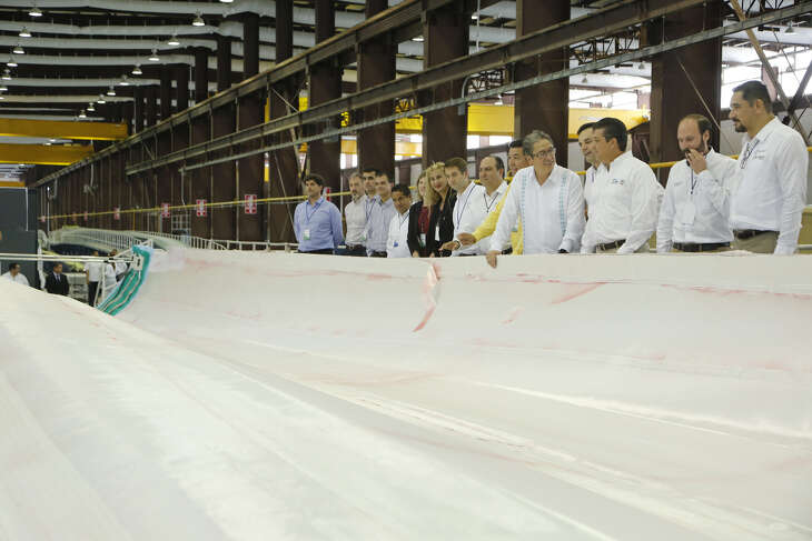German wind turbine maker and wind farm developer Nordex Acciona recently began production at the company's new Matamoros plant at Parque Industrial Las Ventanas off Highway 2 on the city's far westside.
