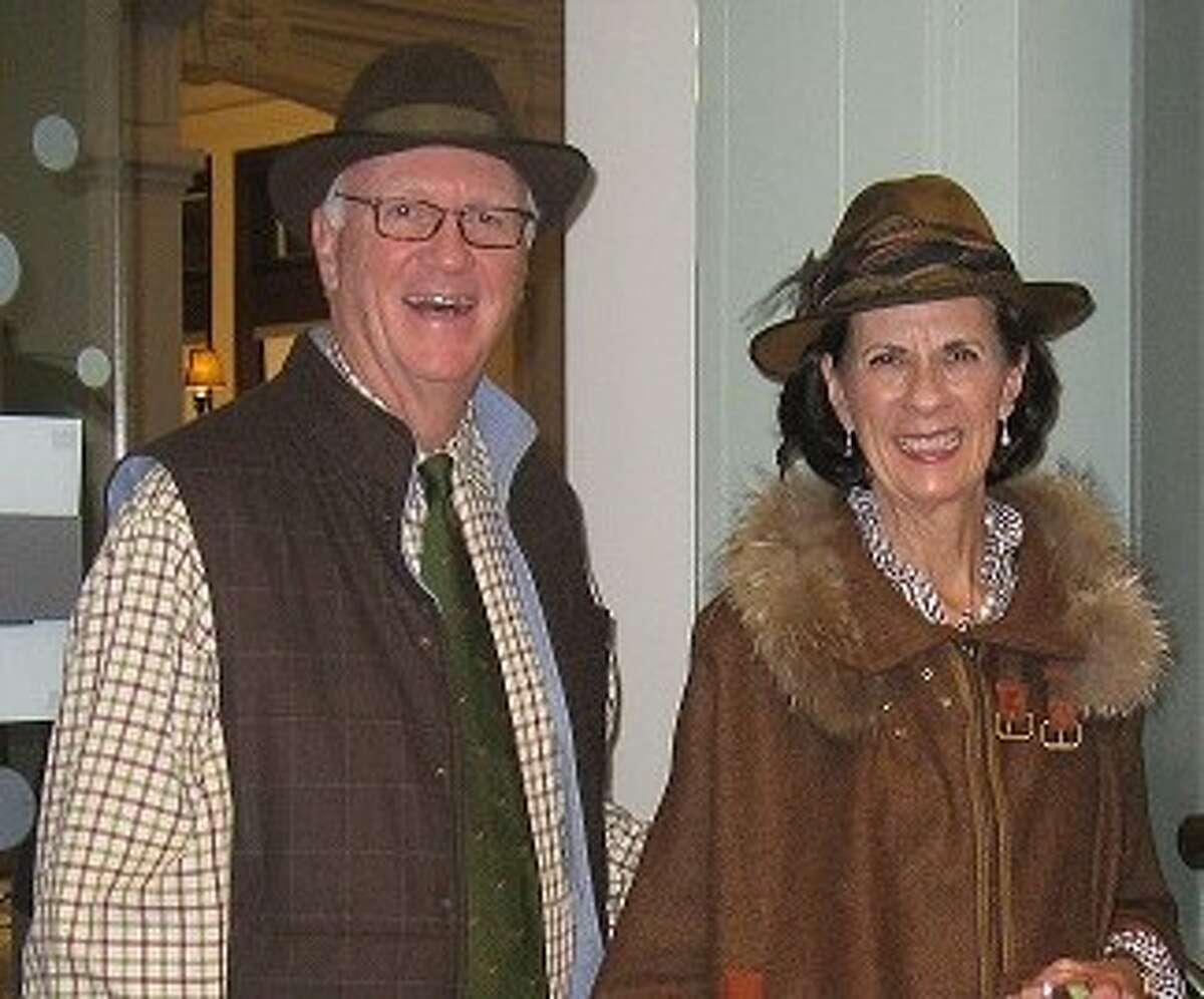 Paul and Dewey McNamara at the Ridgefield Library's Downton Abbey event.