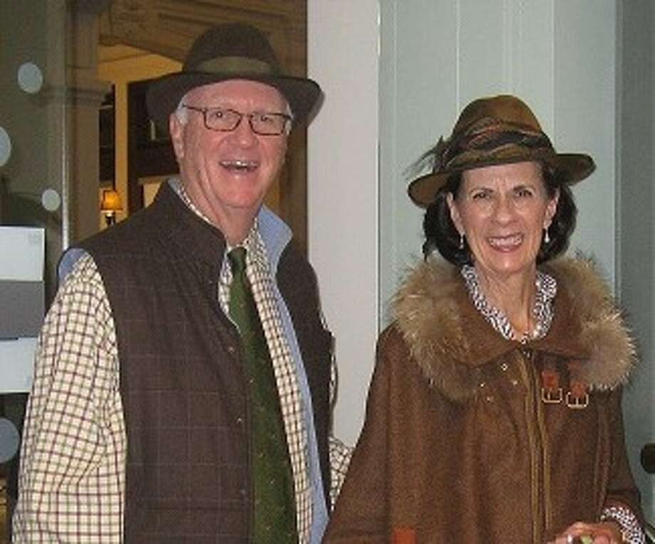 Paul and Dewey McNamara at the Ridgefield Library's Downton Abbey event.
