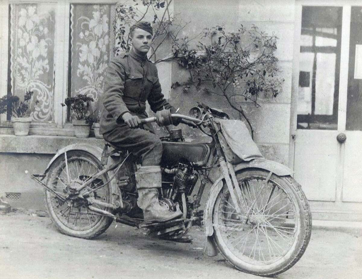 Ridgefielder Carleton Stevens was a motorcycle rider for the U.S. Army in World War I, and carried terms of the armistice to General John J. Pershing.