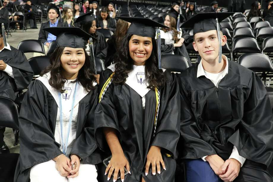 The first graduates of Harlan High School crossed the stage Friday night. Photo: Courtesy Northside ISD