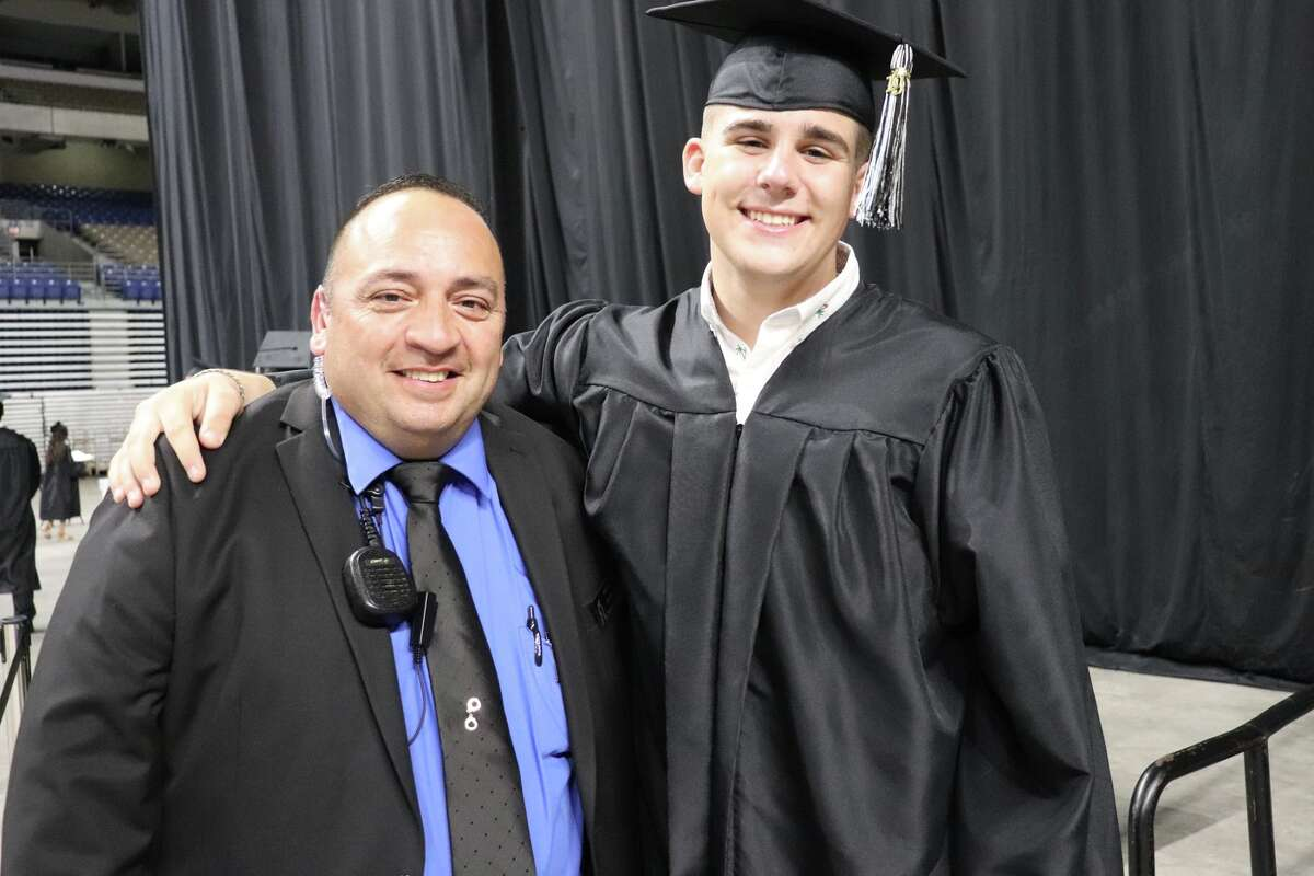 The first graduates of Harlan High School crossed the stage Friday night.