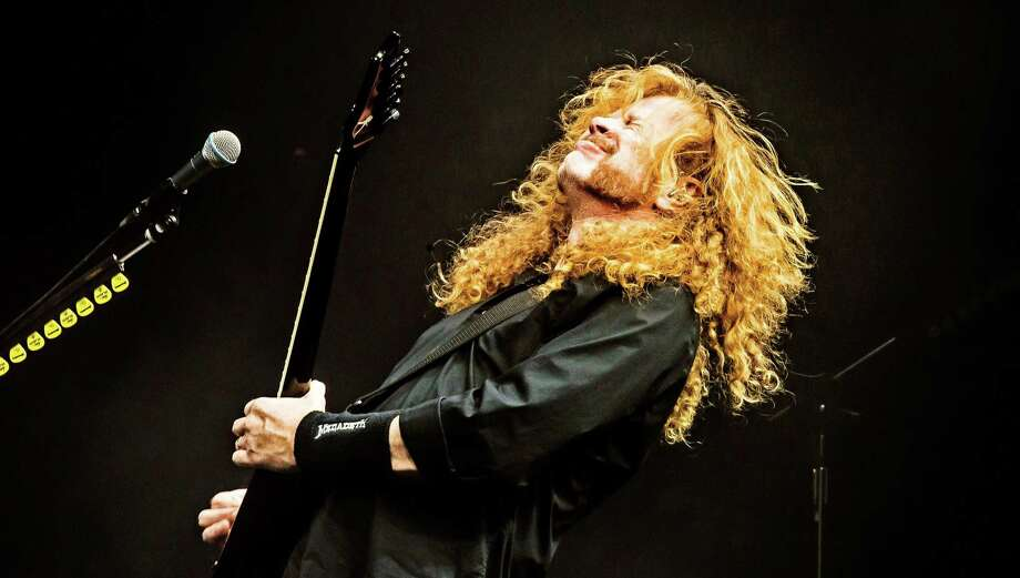 "Mustaine, born in La Mesa, California, joined Metallica as lead guitarist in 1981. He was ousted from the band before they recorded ""Kill 'Em All"" in 1983 Photo: Will Ireland/Future/Shutterstock / Copyright (c) 2017 Shutterstock. No use without permission."