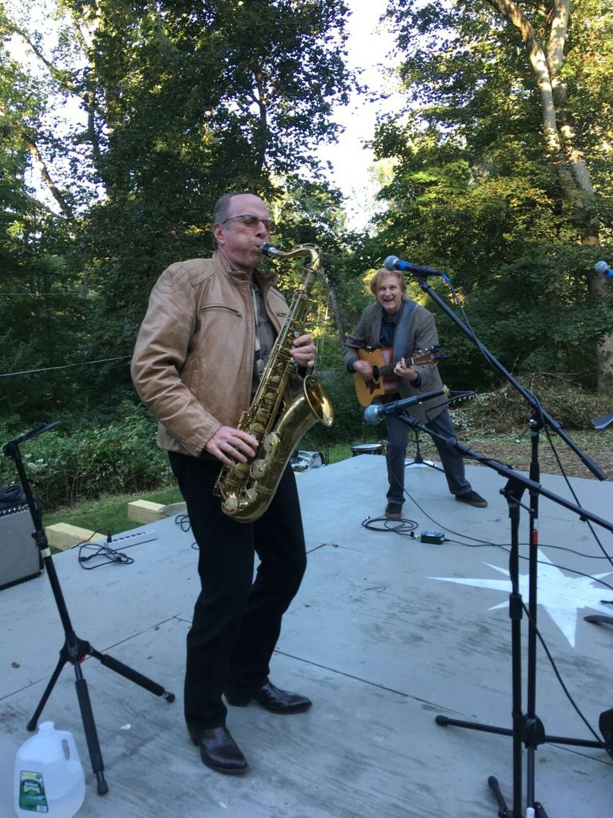 John Lissauer, record producer of Leonard Cohen's Hallelujah, takes the stage with Peter Calo at least year's Wataba Lake Festival.