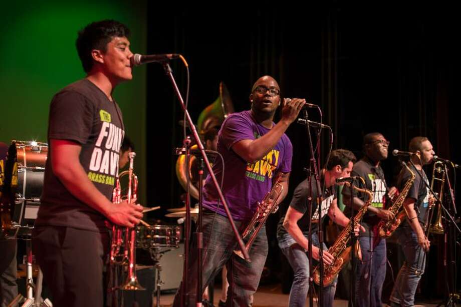 The Funky Dawgz performing at the Ridgefield Playhouse for the 2015 FunkRaiser. The band returns as part of Ridgefield's first-everJazz, Funk and Blues Weekend Saturday night.