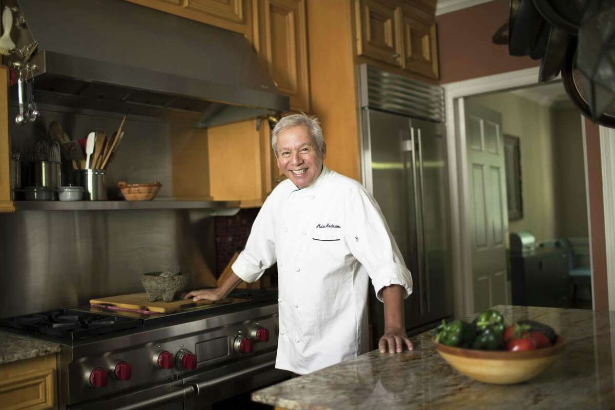 """Adán Medrano in his home kitchen, where he tested recipes for his new book, """"Don't Count the Tortillas."""""""