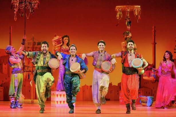 Cast from the Broadway at the Hobby Center production of 'Aladdin'