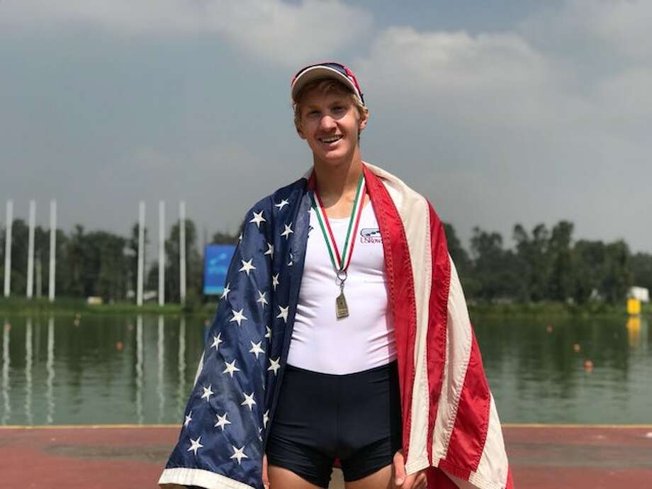 Gus Kynast won two gold medals as part of the U.S. team at the CanAmMex Regatta in Mexico City.