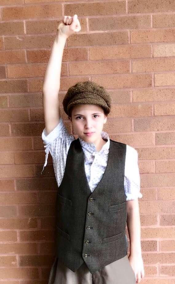 """Ridgefield resident Avery Siburn, 12, plays Newsie """"Henry."""""""