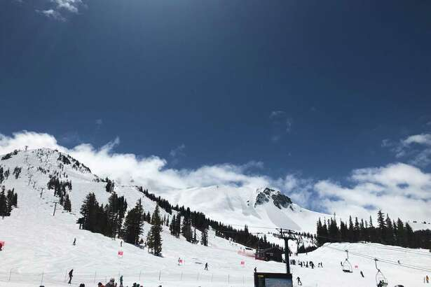 Mammoth Mountain, shown in April, has received more than 700 inches of snow on its summit this ski season and plans to be open until August.