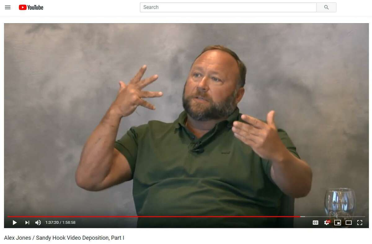 A videotaped deposition of Alex Jones in Lewis v. Jones, taken by attorney Mark Bankston of Kaster Lynch Farrar & Ball, LLP., posted on YouTube on March 29, 2019.