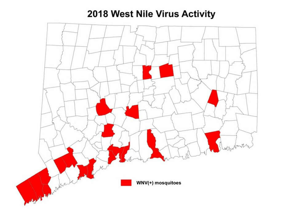 Connecticut towns in which WNV-infected mosquitoes have been detected as of Aug. 2.