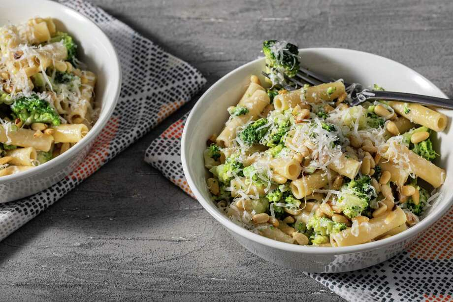 Ziti with Broccoli and Toasted Pine Nuts. Photo: Photo By Justin Tsucalas For The Washington Post. / For The Washington Post