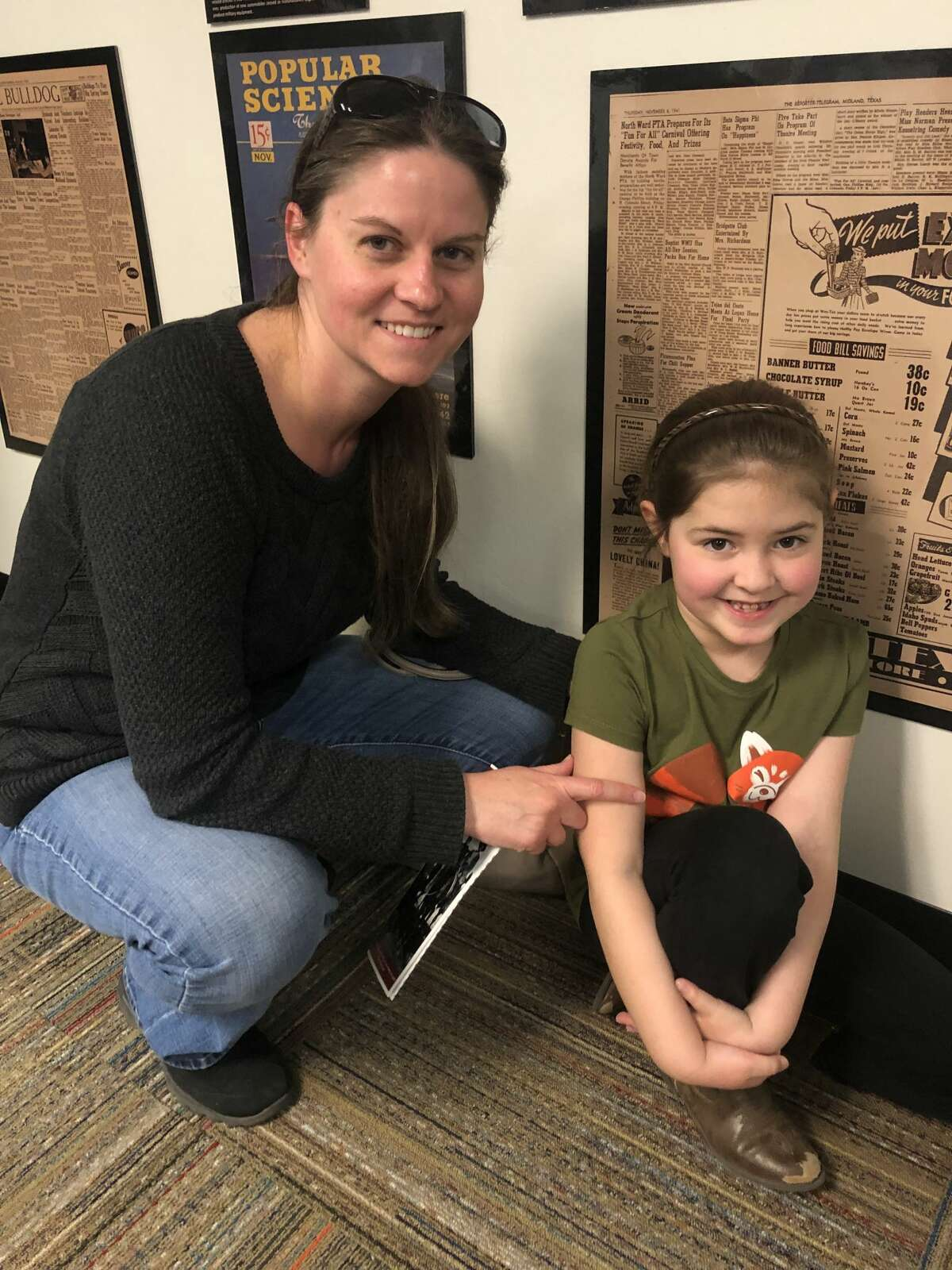 Midland County History Museum: Jennifer Garcia, left, and Maghan Garcia