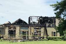 A home off Johnson Road in Dobbin was destroyed by fire sparked by a lightning strike Sunday.