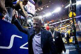 Golden State Warriors head coach Steve Kerr exits following Game 6 of the NBA Finals at Oracle Arena on Thursday, June 13, 2019, in Oakland, Calif. The Toronto Raptors won the game 114-110 and won the NBA Finals with a 4-2 series.